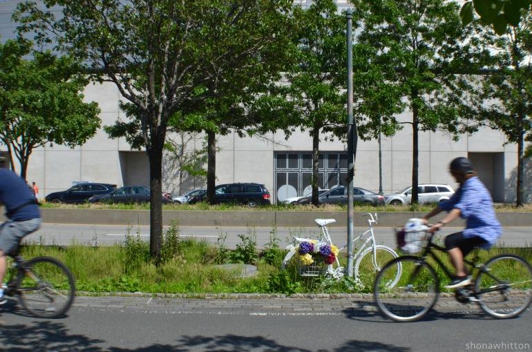 Ghost rider. Hudson River Greenway, Manhattan.