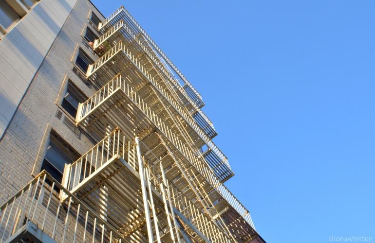 Chelsea fire escape balconies.