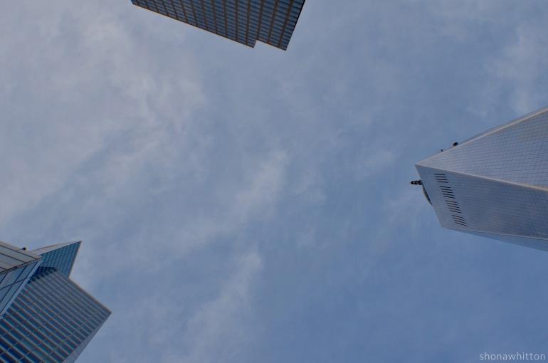 Scraping the sky. Lower Manhattan.
