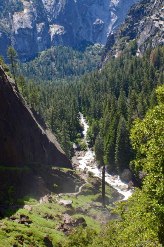 It's a long way to the top of Vernal Fall.