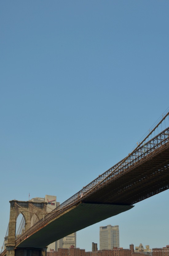 Brooklyn Bridge from the East River.