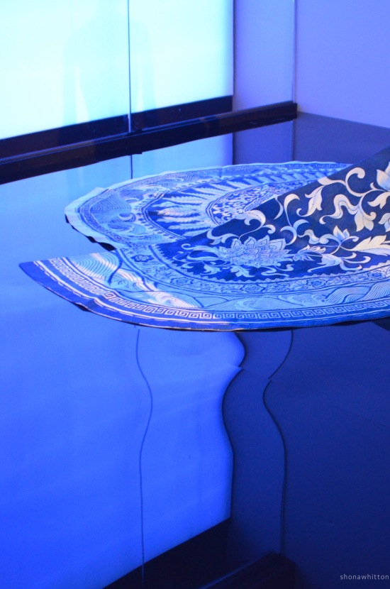 Blue lines, China: Through the looking glass exhibition,   The Met.