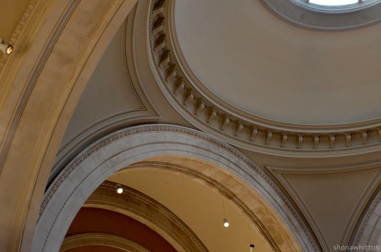 Ceiling detail, The Metropolitan Museum of Art, Upper East Side, Manhattan.
