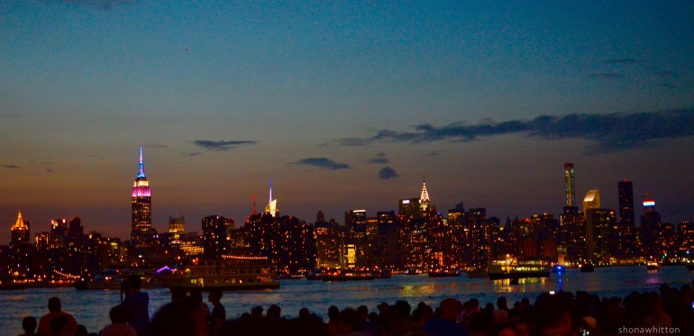 Fourth of July views. You can't see Manhattan from Manhattan. East River Park, Brooklyn.