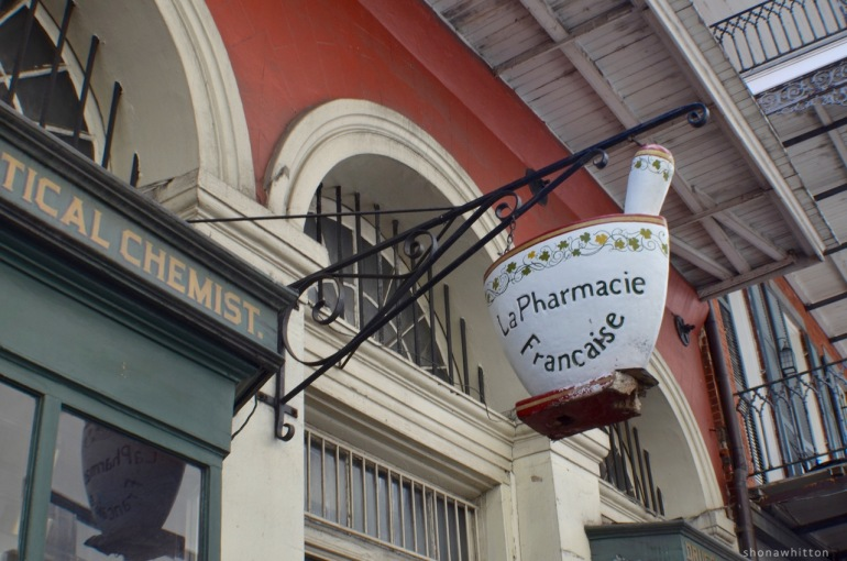 It's in the details. Pretty NOLA pharmacy. French Quarter.