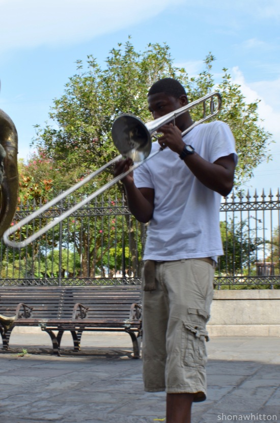 Street trombone. French Quarter.
