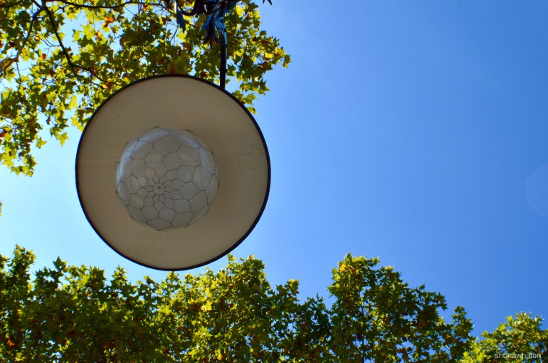 Even the streetlights have the Gaudi touch.